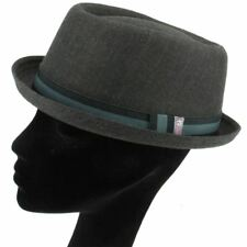 PORK PIE HAT RUDE BOY SKA DARK GREY TWEED RETRO HEISENBERG