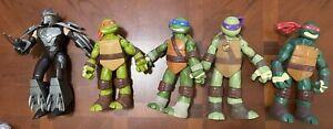 5 Nickelodeon Teenage Mutant Ninja Turtles: Battle Shell 10-inch Action Figures