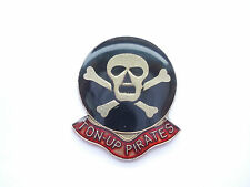 NEW VINTAGE TON UP PIRATES ROCKERS UK TRIUMPH BSA MOTOR CYCLES GB BIKE PIN BADGE
