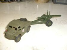 DINKY TOYS MORRIS FIELD TRACTOR & 5.5 MEDIUM GUN