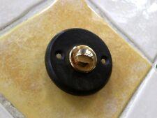 Türklingel rund-schwarz, Klingelknopf Messing, Klingel passend zu Haustür antik
