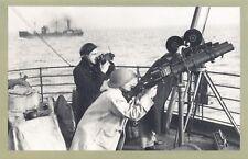 Nostalgia Postcard c1942 WW2 War Photographers on Convoy Vessel Repro Card NS47