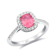 Natural Pink Spinel 0.86 carats set in 14K White Gold Ring