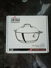 All Clad Copper Core 5.5 Quart Dutch Oven with Domed Lid 5-ply (6500) BRAND NEW