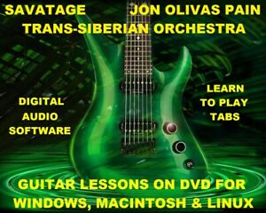 Savatage Trans-Siberian Orchestra Jon Olivas Pain 332 Guitar TAB Lesson CD 10 BT