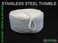 50MTRS X 10MM HIGH STRENGTH ANCHOR ROPE WITH STAINLESS STEEL THIMBLE