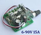 PRO 6V-90V 15A Pulse Width Modulator PWM Motor Speed Regulator Switch Controller