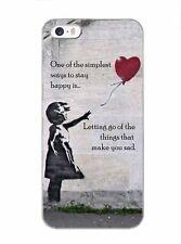 Banksy Niña con Globo frase carcasa trasera rígida para móvil para iphone i4 i5