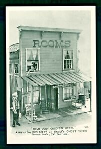 Postcard Knott's Berry Farm Rooms at Gold Dust Goldie's Hotel Ghost Town. KBF