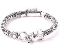 DESIGNER Bali ELEPHANT Bracelet Handmade 925 Solid Sterling Silver  57 Gms