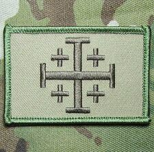 JERUSALEM CROSS CRUSADER MULTICAM JIHAD TACTICAL HOOK ARMY MORALE BADGE PATCH