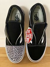 VANS Off the Wall Sneakers Elephant Leather Suede Canvas Custom Design 10.5