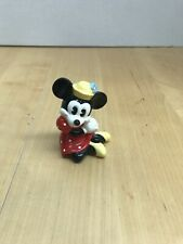 "Disney Minnie Mouse Sitting Porcelain Figurine 3"" Tall"