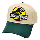 Jurassic Park Movie Logo Yellow Sci fi Patch Green Khaki Snapback Cap Hat