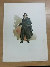 "1895 CHARLES DICKENS ""MR WHACKFORD SQUEERS"" WATERCOLOUR PAINTING PRINT BY ""KYD"""