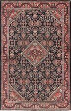 Geometric Red & Black & Pink Mahal Antique Rug 4'x7' Oriental Handamde