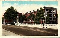 Delaware Hospital and Nurses Home Wilmington Delaware 1920s Postcard