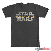 STAR WARS T-Shirt FORCE AWAKENS Logo Gray New LICENSED Authentic S-2XL