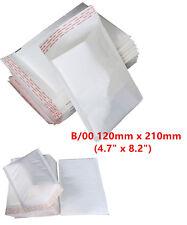 100 B/00 B00 Small Padded Bubble Lined Postal Envelopes Mail Cheap 120x210mm 4u
