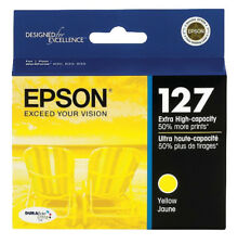 GENUINE Epson 127 Yellow Ink Cartridge for WorkForce 60 545 630 633 635 645 840