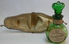 VICTORIAN SCENT PERFUME Bottle - Emerald Green BIMAL, Orig. Labels & Case