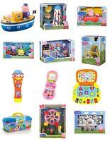Peppa Pig Playset Toys Classroom Train Push Car Playhouse Ferris Wheel