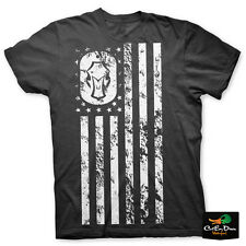 NEW HARD CORE BRANDS HARD CORE FLAG LOGO SHORT SLEEVE T-SHIRT BLACK LARGE