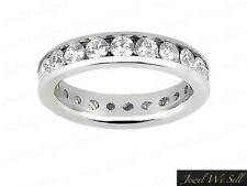 1.35Carat Diamond Classic Channel Wedding Eternity Band Ring 10k White Gold G SI