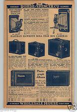1930 PAPER AD 3 PG Hawkeye Eastman Box Camera Folding Vest Pocket Hawk-Eye