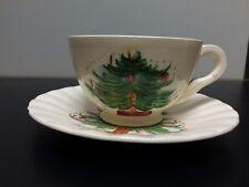 Blue Ridge RARE Christmas Tree Pattern Cup & Saucer