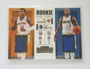 NBA Panini Rookie Dual Ticket Patch Card - Frank Ntilikina / Dennis Smith Jr 🔥