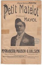 PARTITION ANCIENNE PETIT MATELOT  FELIX MAYOL