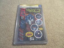 Transformers Dark Cybertron #1 CGC SS 9.9 Rob Liefeld Mint 2013 Convention Ed.