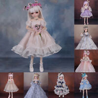 45cm BJD Doll 1/4 Ball Jointed Girl Dolls Free Face Makeup+Wigs+Shoes+Eyes Toys