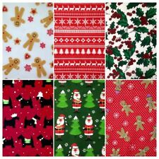 By the Metre Polycotton Craft Fabric Holiday/Christmas 45""""