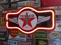 TEXACO STAR Gasoline LIGHTED UP LED DISPLAY  Sign The Texas Company Oil Gas