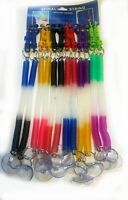 Spiral String Key Chain Keyring Coil Stretch Keychain Hook Retractable Plastic
