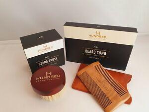 Beard Kit, Horsehair Beard Brush No 3 & Handcrafted Beard Comb No 1, Gift Set