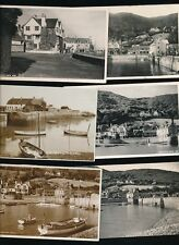 Somerset PORLOCK WEIR x6 collection c1940/50s RP PPCs
