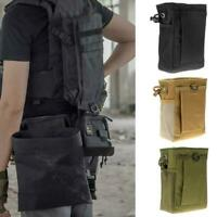 Utility Tactical Magazine Drop Dump Pouch Molle Military Ammo Gun Storage Bag