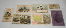 ANTIQUE VICTORIAN ADVERTISING TRADE CARDS GROUP LOT FOOD DRINK COFFEE TEA MISC
