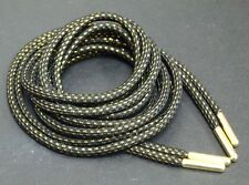 "64""Gold Thread Rope shoe laces for LeBron XI 12 X 13 Black Air Jordan Kobe"
