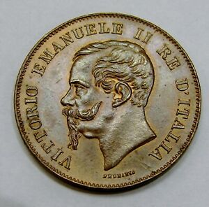 Italy - 1867 M - 5 Centesimi - KM# 3.2 - Nice Grade