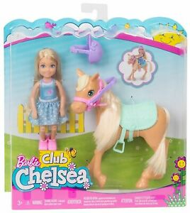 Barbie Club Chelsea Doll and Horse DYL42  Ages 3+