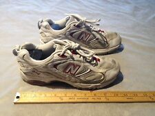 NEW BALANCE CWX504GR Women's Cross Training Sneakers US 9.5 White/Silver/Red