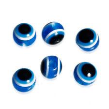 100 Blue Evil Eye 4mm Acrylic Resin Beads J76019U