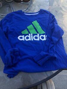 Adidas Boys Athletic Shirt Blue  Size M 10/12