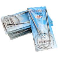 13pcs 43cm 65cm Size UK6-18 Stainless Steel Circular Knitting Needles Knit Hook