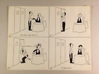 Original Gag Panel Comic Strip Cy Olson Cartoon SIGNED 1960s Chef humor