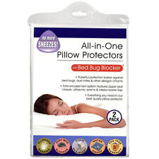 All-In-One 2 Pack Pillow Protectors with Bed Bug Blocker